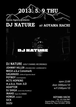 DJ NATURE at AOYAMA HACHI
