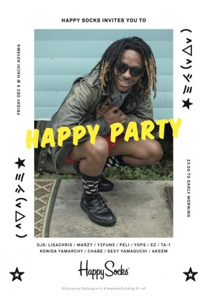 "Happy Socks presents ""HAPPY PARTY"""