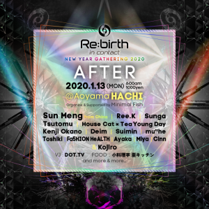 Re:birth in Contact After party supported by Minimal Fish